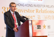 Mr. Lamba emphasized the value and importance of IR to listed companies in his keynote speech